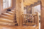 Image of Rustic Handcrafted Log Staircase